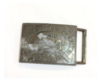 Vintage Metal Ford Belt Buckle