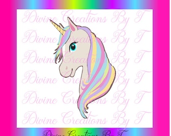 Colorful Unicorn SVG