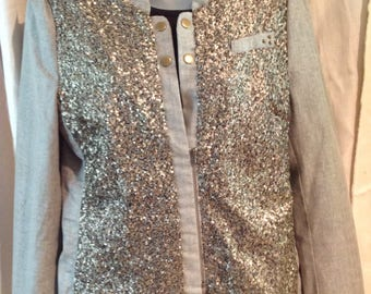 10 Feet Dutch Designer Jacket Linen & Sequins
