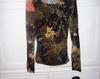 ROBERTO CAVALLI shirt top tee size 36 FR - 1990s