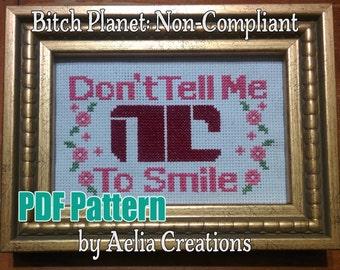 Non-Compliant Cross Stitch Pattern