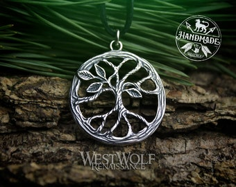 Tree of Life Pendant - Yggdrasil the World Tree - 925 Sterling Silver --- Viking/Celtic/Norse/Mythology/Nature/Pagan/Magic/Necklace/Jewelry