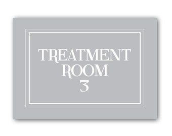 Treatment Room Three Sign, Treatment Room Sign, The Treatment Room Sign