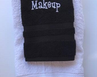 Monogrammed Makeup towel set / hand towels / Personalized towels