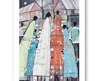 Family Tree Watercolor Print, African American Art, Black Art, Wall Art,Home Decor Art, Watercolor Art,Abstract Art, Wall Art
