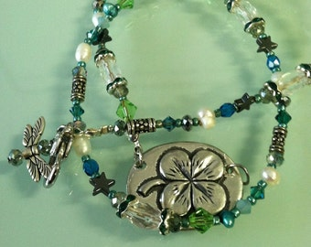 Shamrock and Good Luck Pendant Necklace