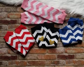 Infant Baby Toddler Chevron Leg Warmers
