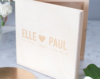 Personalised Couples CD Keepsake Box - Gift for Couples - Housewarming Gift - Wedding CD Box - DVD Box - Engagement Present - New Home Gift
