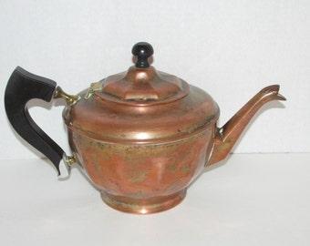 Antique Brass Manning Bowman Teapot