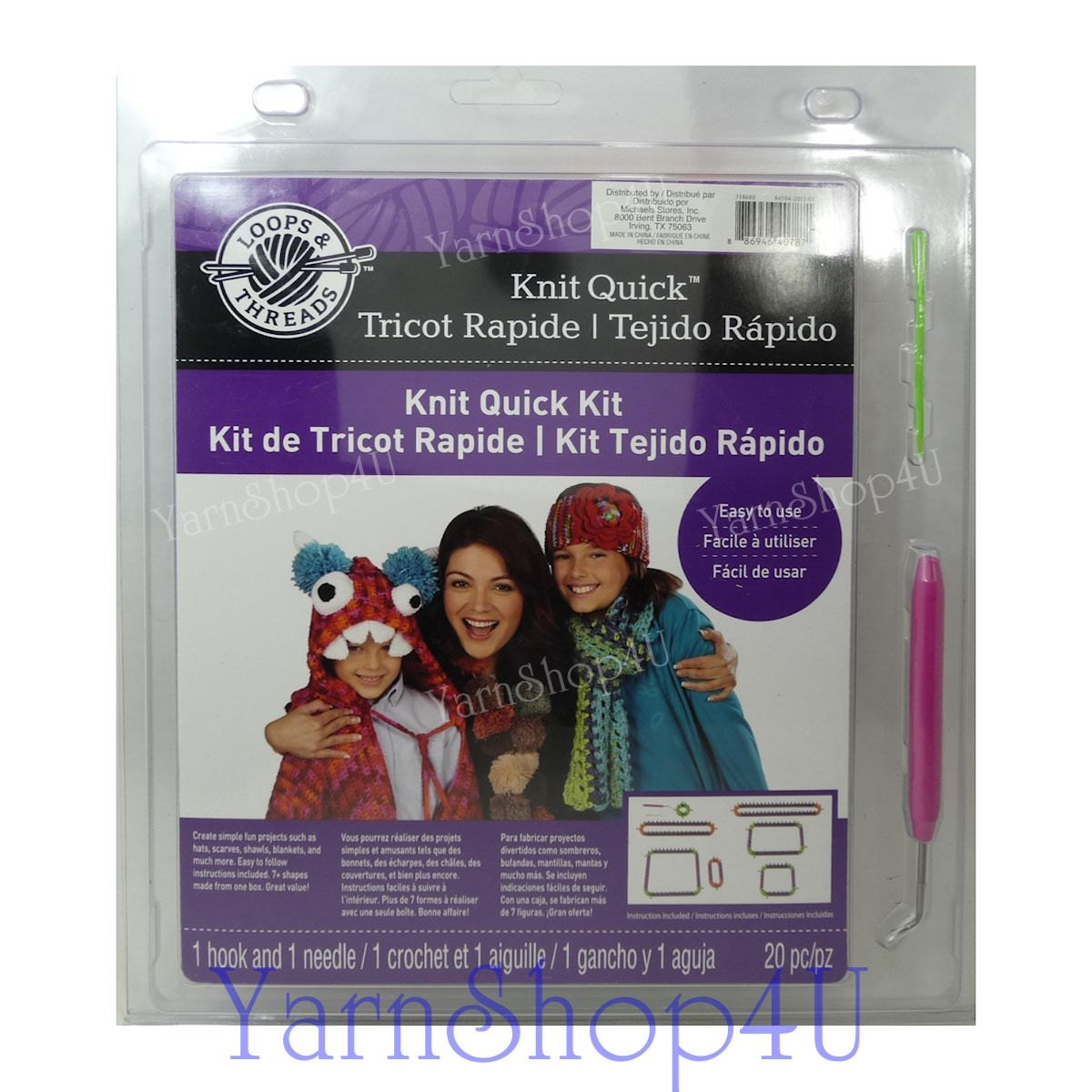 SALE 20pc Knitting Loom Kit Loops & Threads™ Knit Quick™