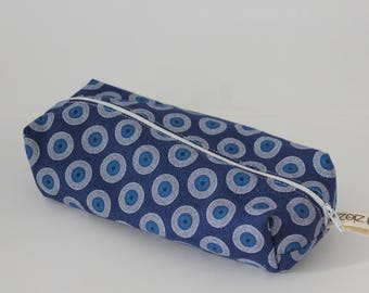 Shweshwe Print Pencil Bag, Pen Bag, Zippered Pencil Pouch