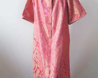 Vintage 1950s-60s Paisley Brocade Loungewear Robe Best & Co. Sz M