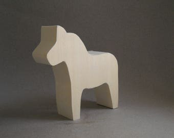 Dala horse cutout unfinished