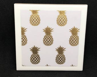 Golden Pineapple Coasters (Set of 4)