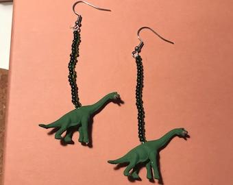 Mini Brontosaurus Earrings