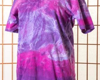 Fitted, T Shirt, Tee, V Neck, Women, Unisex, Men, Large, Short Sleeve, Boho, High Fashion, Purple, Pink, Lavender, Hand Dyed, Gift, 119