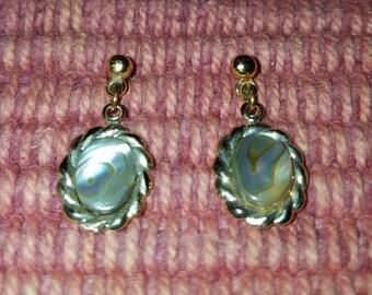 Abalone Shell Drop Earrings