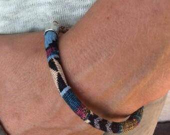Multicolor ethnic cord bracelet