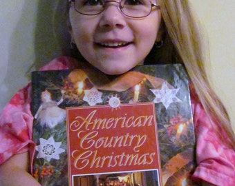 Crafting and Pattern Book - American Country Christmas 1993 - Quilting Patterns, Holiday Recipes, Country Needlecraft, History