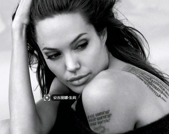 Angelina Jolie Temporary Tattoo tibetan buddhism temporary tattoo