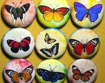 Papillon Splatter aimants - un pouce
