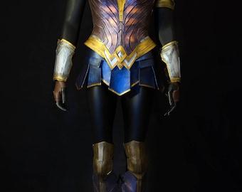 Wonder Woman Costume Cosplay Corset Full armor Justice league DC comics Corset Skirt Bracer Armor