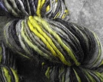 Handspun yarn, handpainted BFL wool yarn, handmade yarn worsted  multiple skeins available-Haint