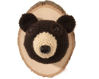 Crochet Taxidermy Brown Bear