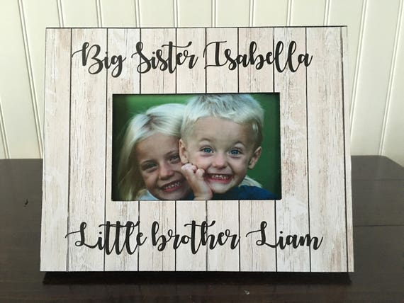 Siblings picture frame // Big Sister little brother picture
