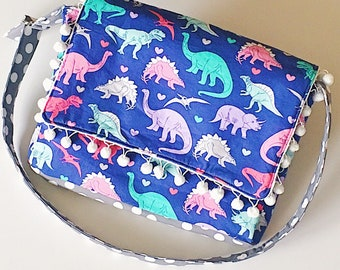 Dino Heart Messenger Bag