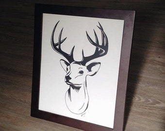 Hand Drawn Print {Deer}