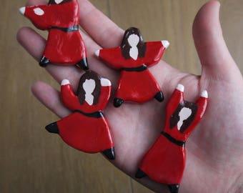 Dancing Kate Bush Clay Pins