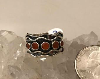 Carnelian Ring Size 9