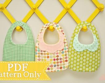 Little Charmer Collared Baby Bib PDF Pattern, Sewing Pattern, PDF Sewing Patterns, Infant Size Baby Bib, Instant Download, Baby PDF