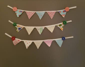 Fabric Bunting magnets