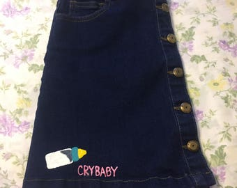 Denim CRYBABY skirt