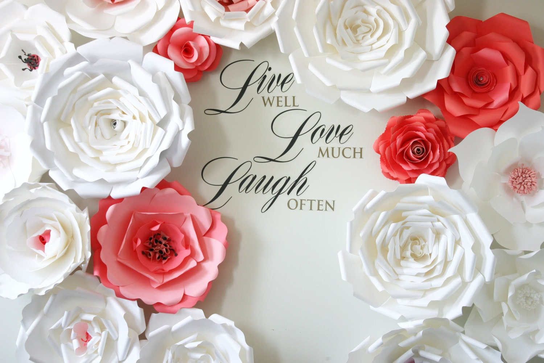Posh paper flowers / Paper Flower Backdrop – Paper Flower Wedding ...