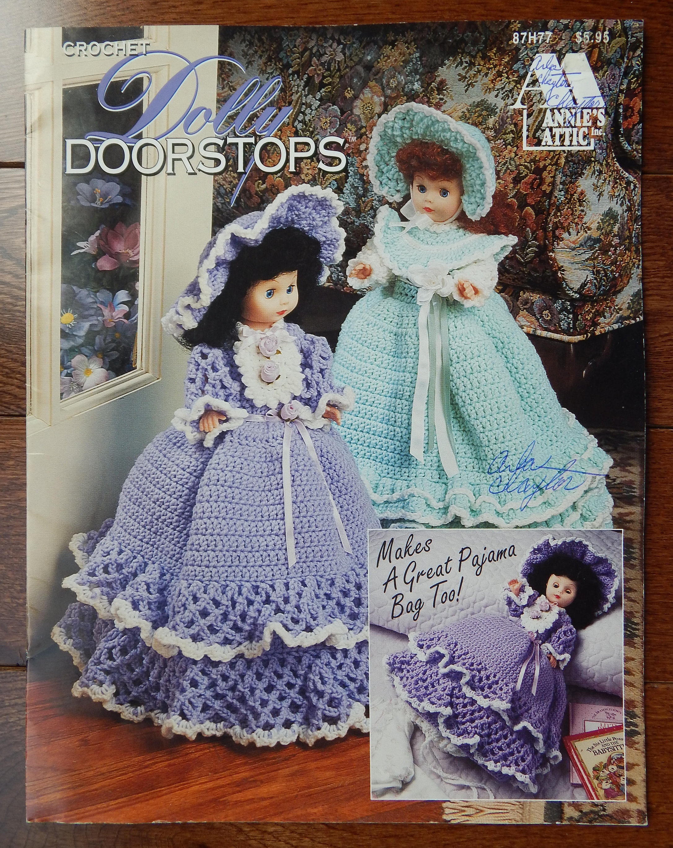 Crochet Doorstop or Pajama Bag Patterns/ Vintage Annie\'s Attic Dolly ...