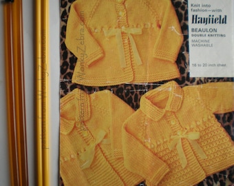 3 Baby Coats Knit PDF Vintage Pattern B009 from WonkyZebraBaby
