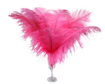 "10 Pcs 8-10"" 10-12"" 12-14"" 14-16"" Pink Ostrich Feather Plume 14-16"""