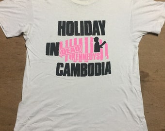 Dead kennedys holiday in Combodia 80's True vintage t shirt L