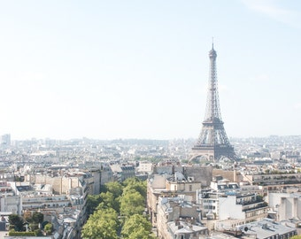 Paris Photography, Eiffel Tower View, Parisian Rooftops, Summer in France, Living Room Art, Architecture, Parisian, French Art