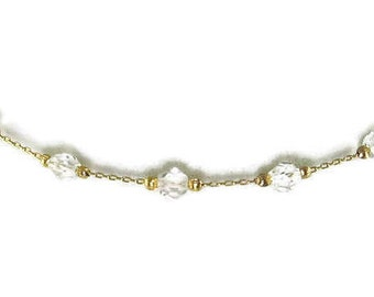 Minimalist Crystal Choker Necklace