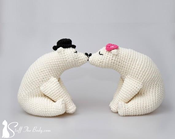 Knitted Wedding Gifts: Kissing Bears Amigurumi Pattern Wedding Crochet Pattern Home