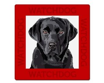 Labrador retriever dog sign, plate