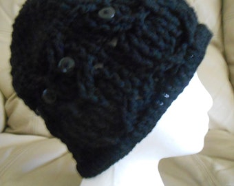 Black Adult Hoot Owl Hat