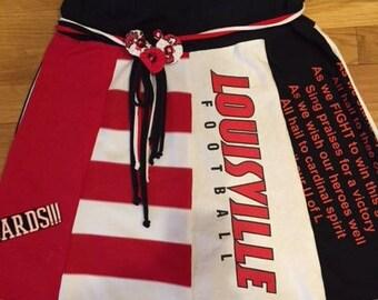 University of Louisville Tee-Shirt Skirt