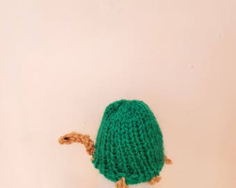 Hand Knitted Tortoise Egg Cosy