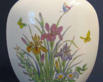Srednick Collection Butterfly & Iris Vase Japan