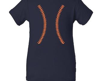Baseball Team Colors Creeper - Navy/Orange